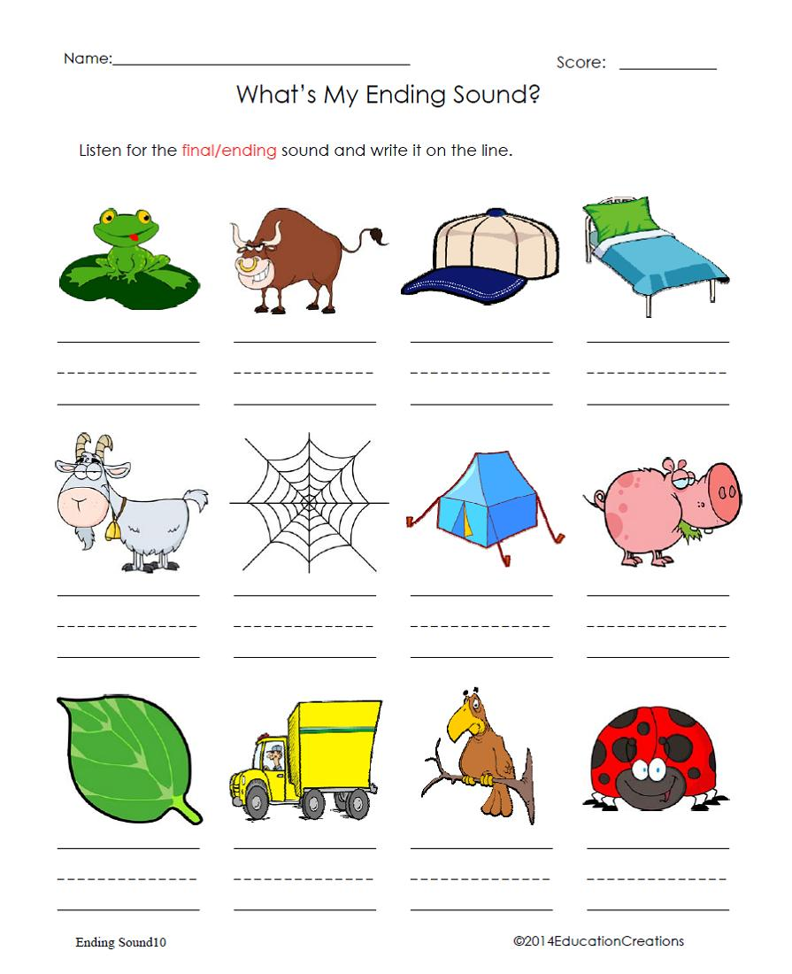 worksheet Beginning And Ending Sounds Worksheets teaching ideas games and more phonics ending sounds here is a helpful worksheet for consonant sounds