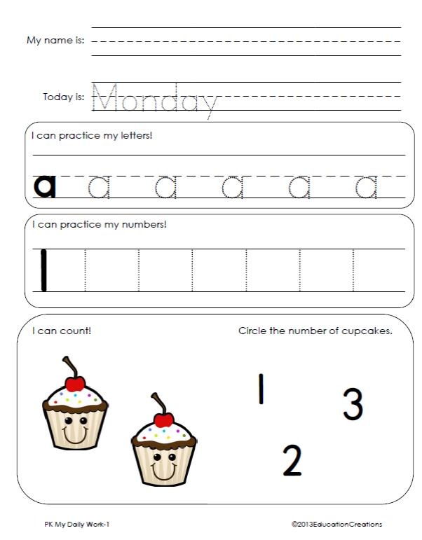 math worksheet : daily work language and math combination worksheets : Daily Math Practice Worksheets