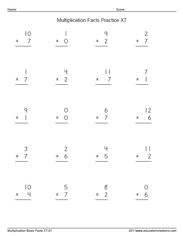 Math Single Skills FREE